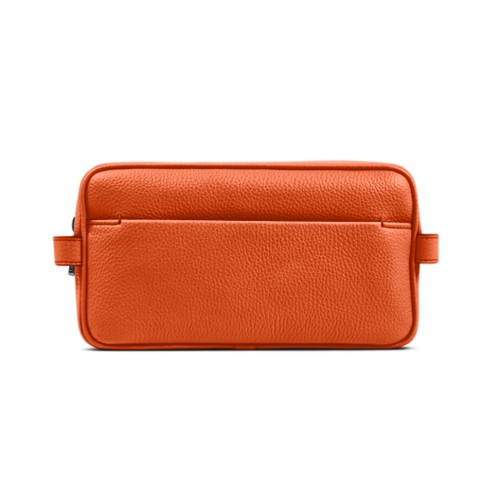 Toiletry - Orange - Granulated Leather