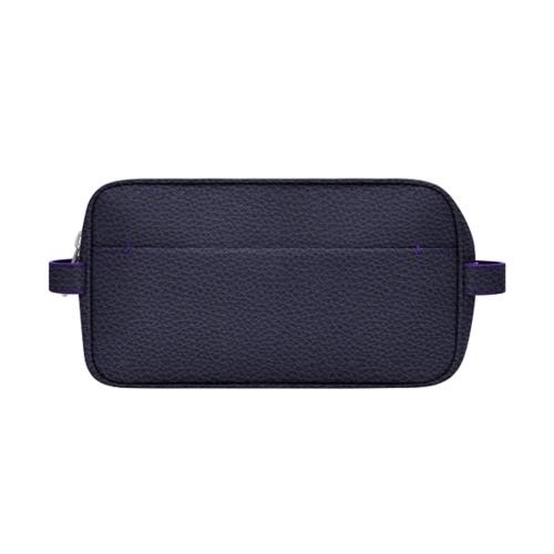 アメニティバッグ (25 x 14.5 x 11.5 cm) - Purple - Granulated Leather