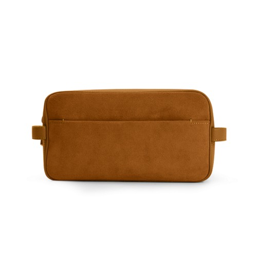Designer Toiletry Bag (25 x 14.5 x 11.5 cm) - Natural - Suede Calf