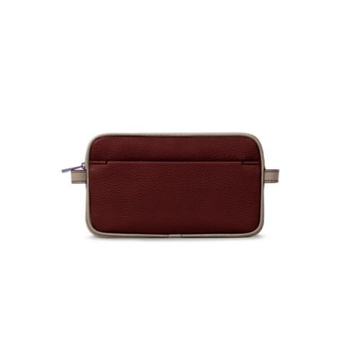 Wash bag - White-Mink - Granulated Leather