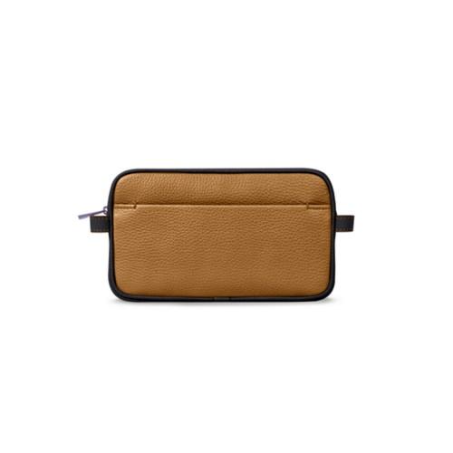 Wash bag - Flake-Black - Granulated Leather