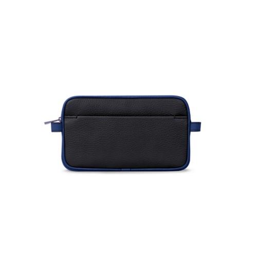 Wash bag - Black-Submarine - Granulated Leather
