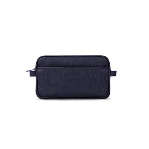Makeup bag - Purple - Granulated Leather