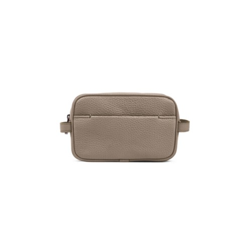 Small Dopp Kit - Mink - Granulated Leather