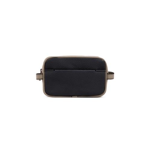 Small Dopp Kit - Black-Mink - Granulated Leather