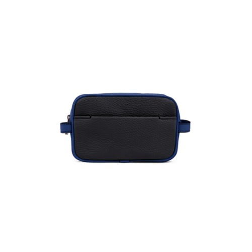 Small Dopp Kit - Black-Submarine - Granulated Leather