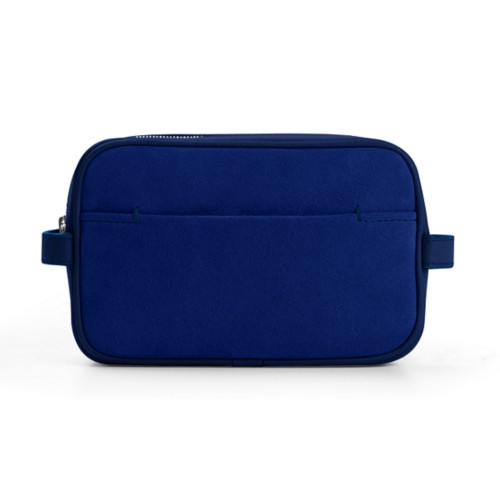 Makeup Bag for Travel (6.9 x 4.3 x 2.2 inches) - Submarine - Suede Calf