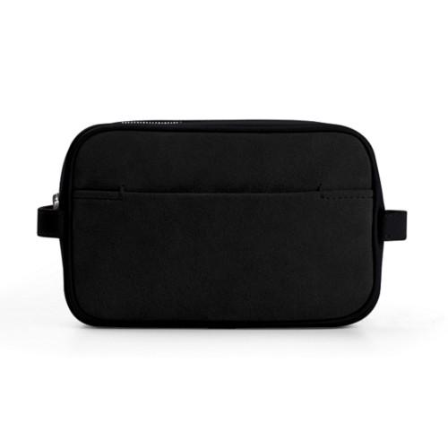 Small Dopp Kit (6.9 x 4.3 x 2.2 inches) - Black - Suede Calf