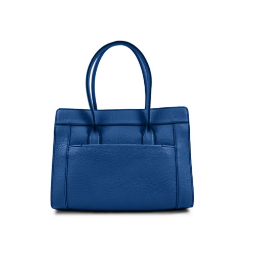 Satchel tote - Royal Blue - Granulated Leather