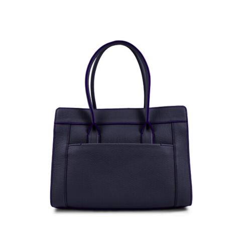 Satchel tote - Purple - Granulated Leather