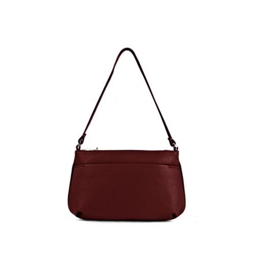 Wristlet - Burgundy - Granulated Leather