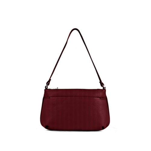 Wristlet - Burgundy - Granulated Leather
