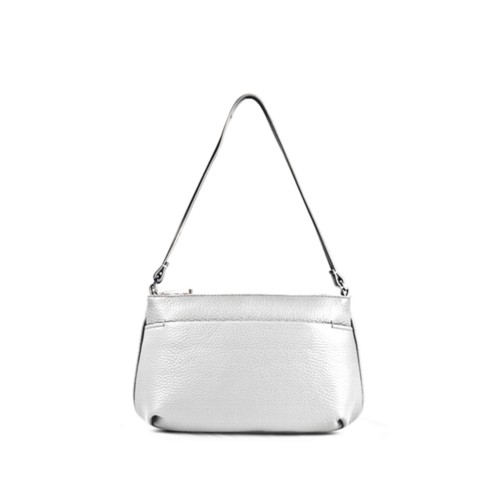 Wristlet - White - Granulated Leather