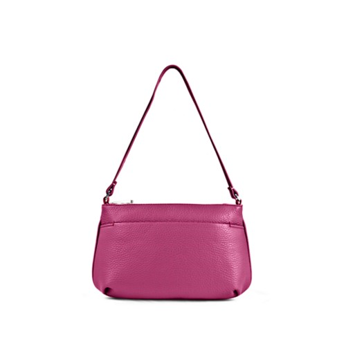 Wristlet - Fuchsia  - Granulated Leather