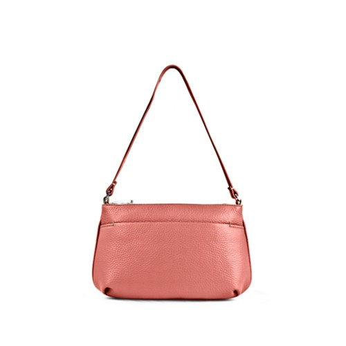 Wristlet - Coral - Granulated Leather