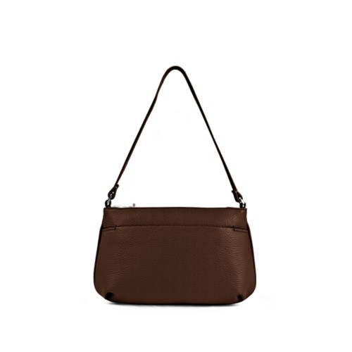 Wristlet - Dark Brown - Granulated Leather