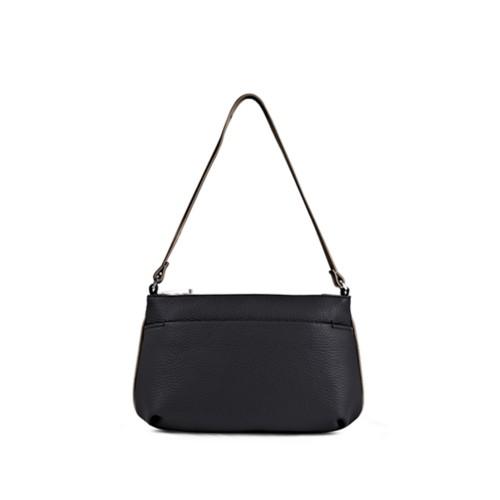 Wristlet - Black-Mink - Granulated Leather