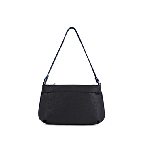 Wristlet - Black-Submarine - Granulated Leather