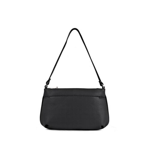 Wristlet - Black - Granulated Leather