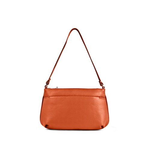 Clutch - Orange - Genarbtes Leder
