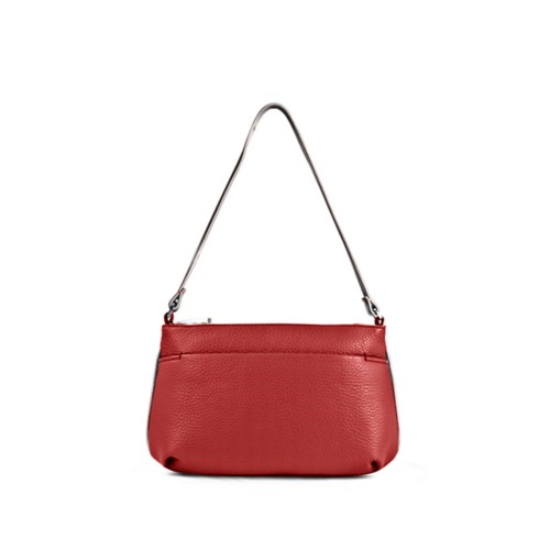 Wristlet - Red-White - Granulated Leather