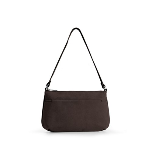 Wristlet - Dark Brown - Suede Calf