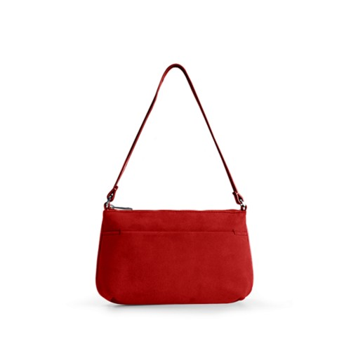 Wristlet - Red - Suede Calf