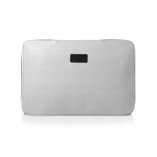 Shirt case - White - Granulated Leather