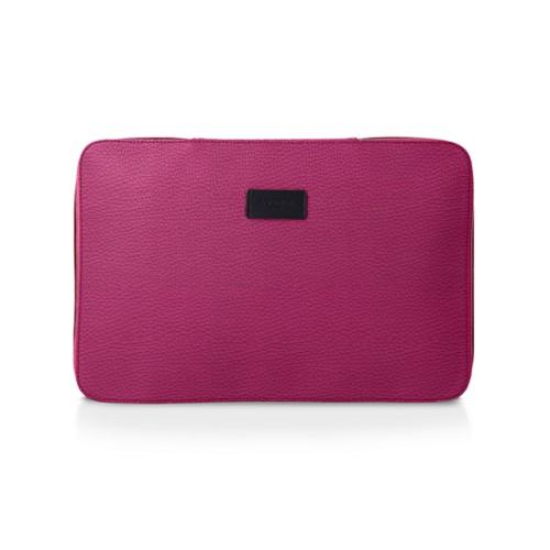 Shirt case - Fuchsia  - Granulated Leather