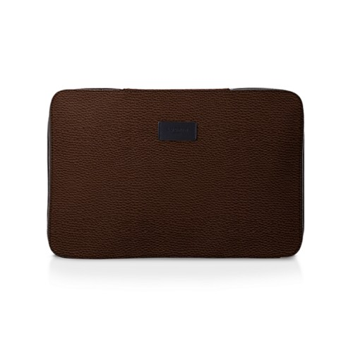 Shirt case - Dark Brown - Granulated Leather