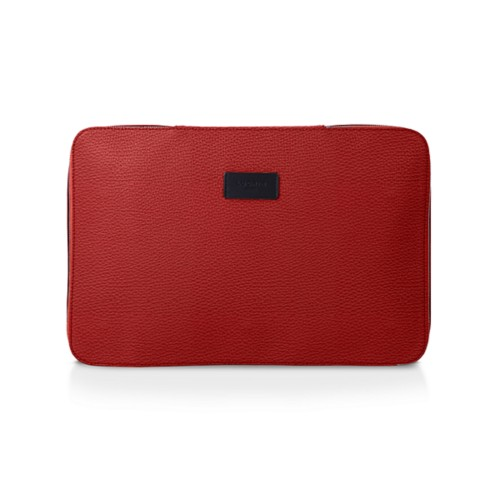 Shirt case - Red - Granulated Leather