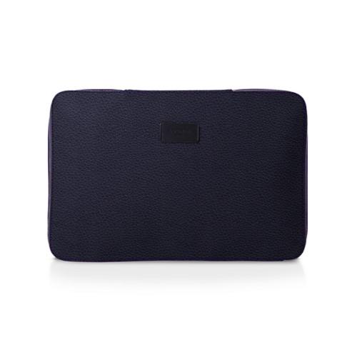 Hemdtasche - Violett - Genarbtes Leder