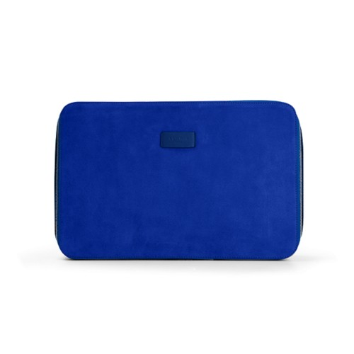 Shirt case - Royal Blue - Suede Calf