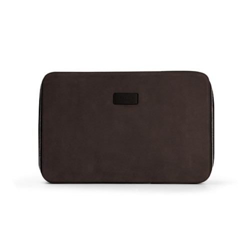 Shirt case - Dark Brown - Suede Calf