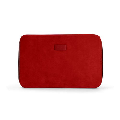 Shirt case - Red - Suede Calf