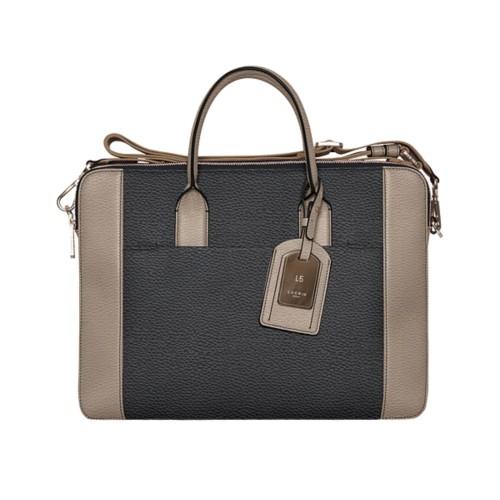 Travel briefcase - Black-Mink - Granulated Leather