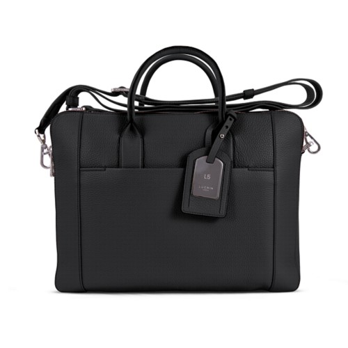 Travel briefcase - Black - Granulated Leather