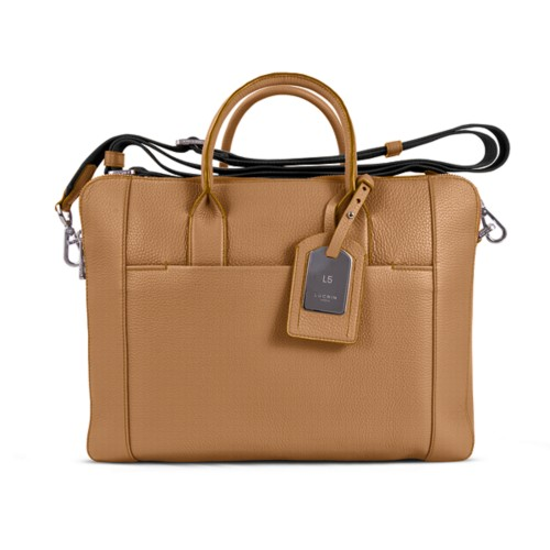 Travel briefcase - Natural - Granulated Leather