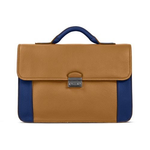 Lawyer briefcase - Flake-Submarine - Granulated Leather