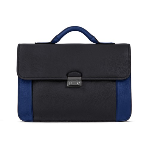 Cartable business - Noir-Submarine - Cuir Grainé
