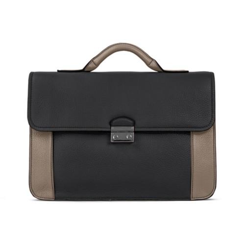 ブリーフケース - Black-Mink - Granulated Leather