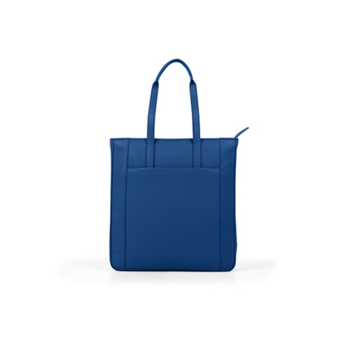 Unisex Tote Bag - Royal Blue - Granulated Leather