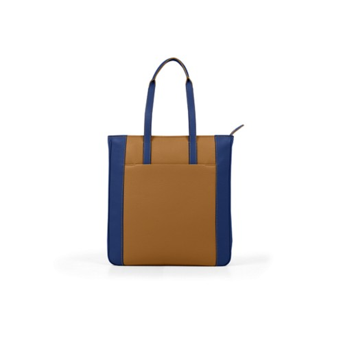 Unisex Tote Bag - Flake-Submarine - Granulated Leather