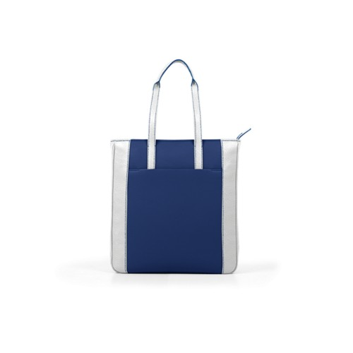 Unisex Tote Bag - Submarine-White - Granulated Leather