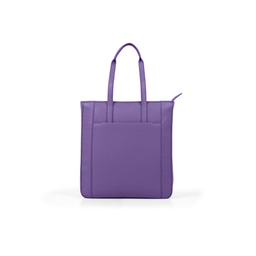 Unisex Tote Bag - Lavender - Granulated Leather
