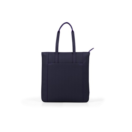 Unisex Tote Bag - Purple - Granulated Leather
