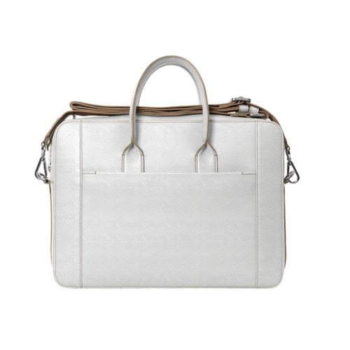 ポートフォリオバッグ(15インチ) - White - Granulated Leather