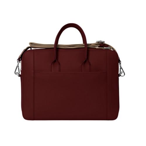 ポートフォリオバッグ(15インチ) - Burgundy - Granulated Leather