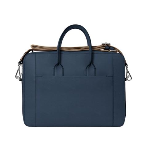 Portfolio bag 15-inch - Navy Blue - Granulated Leather