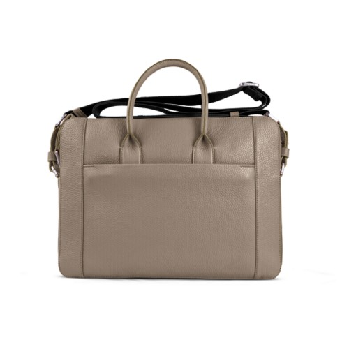 Portfolio bag 15-inch - Mink - Granulated Leather
